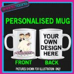 WEDDING BRIDE GROOM MUG PERSONALISED GIFT 003 ADD PICTURE / WRITING